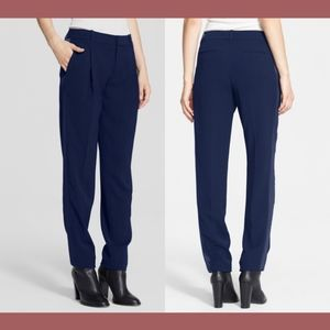 NWT $325 VINCE Satin Strapping Trouser Pants in 14